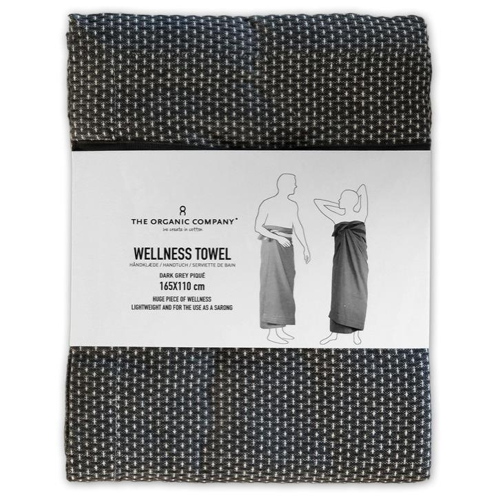 Welness towel dark grey
