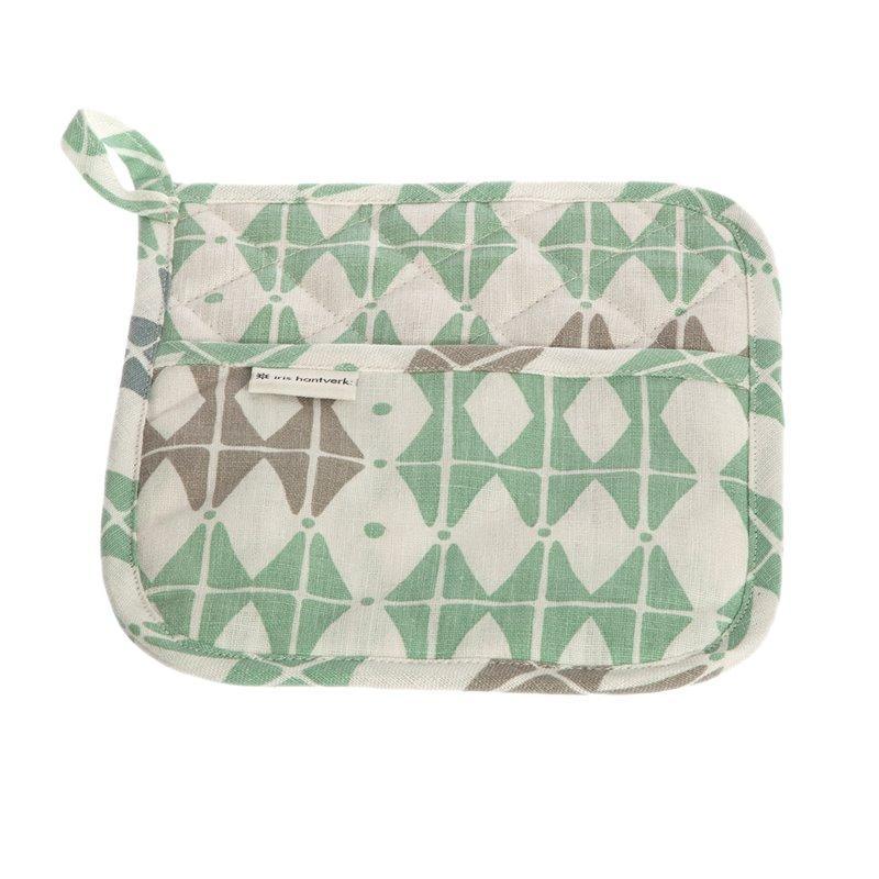 Iris Hantverk potholder-square-50-frosty-green