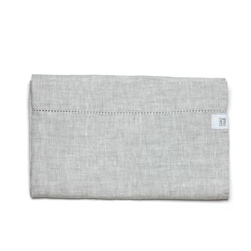 Linen Tea Towel Grey Melange